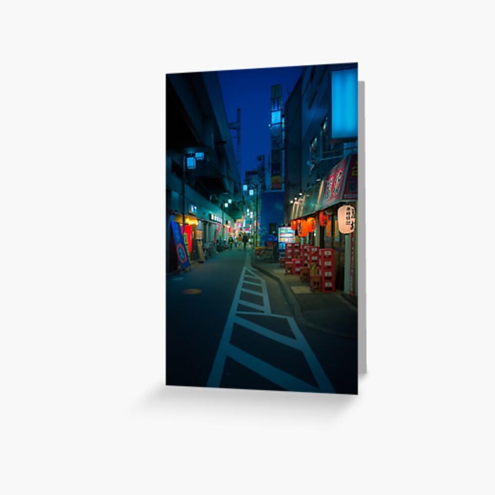 Small Streets of Koenji Greeting Card