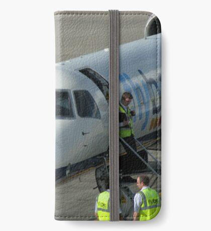 Glückliche Landungen - Flughafen Edinburgh iPhone Flip-Case