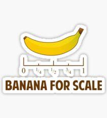 Banane für Maßstab Sticker