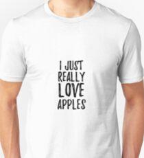Camiseta ajustada Apples Lover Gift Food Addict I Just Really Love Apples