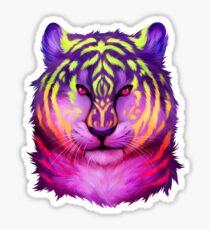 Pegatina Tigre fluorescente