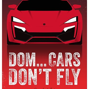 Cinema Obscura Series - The Fast & the Furious - Cars Don't Fly by gbloomdesign