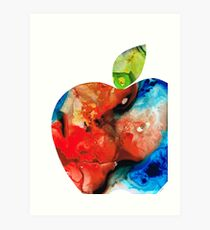 An Apple A Day - Colorful Fruit Art By Sharon Cummings  Art Print