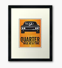 Cinema Obscura Series - The Fast & the Furious - Quarter Mile Framed Print