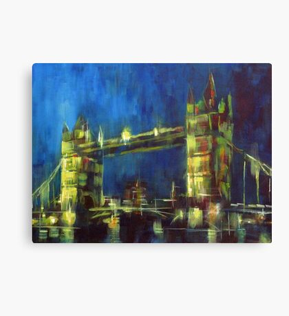 Painting: Tower Bridge London Canvas Print