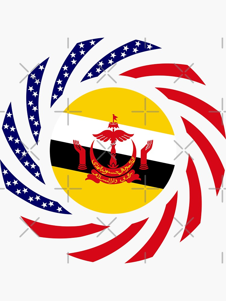 Bruneian American Multinational Patriot Flag Series by carbonfibreme