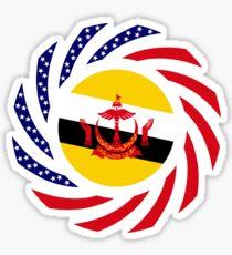 Bruneian American Multinational Patriot Flag Series Sticker