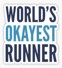 World's Okayest Runner Sticker