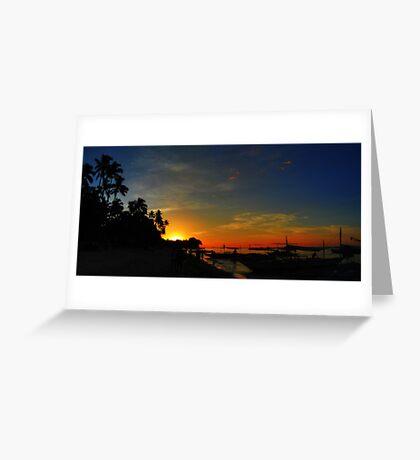 Golden Spark: Panglao Island Greeting Card