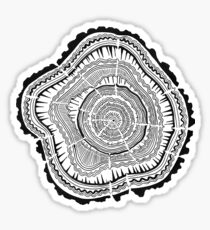 Tree Rings – Black on White Sticker