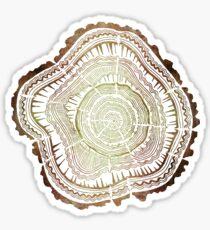 Pegatina Anillos de árbol - Acuarela