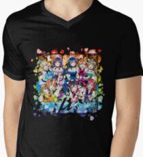 μ's (KiRa KiRa Sensation camo edit.) Men's V-Neck T-Shirt