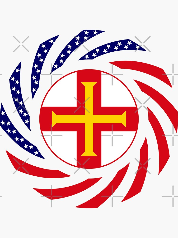 Guernsey American Multinational Patriot Flag Series by carbonfibreme