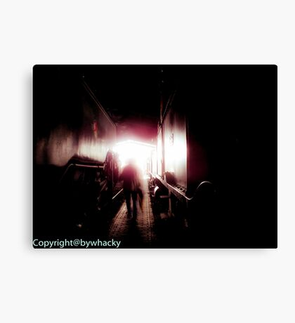 Train shed Ghost Canvas Print