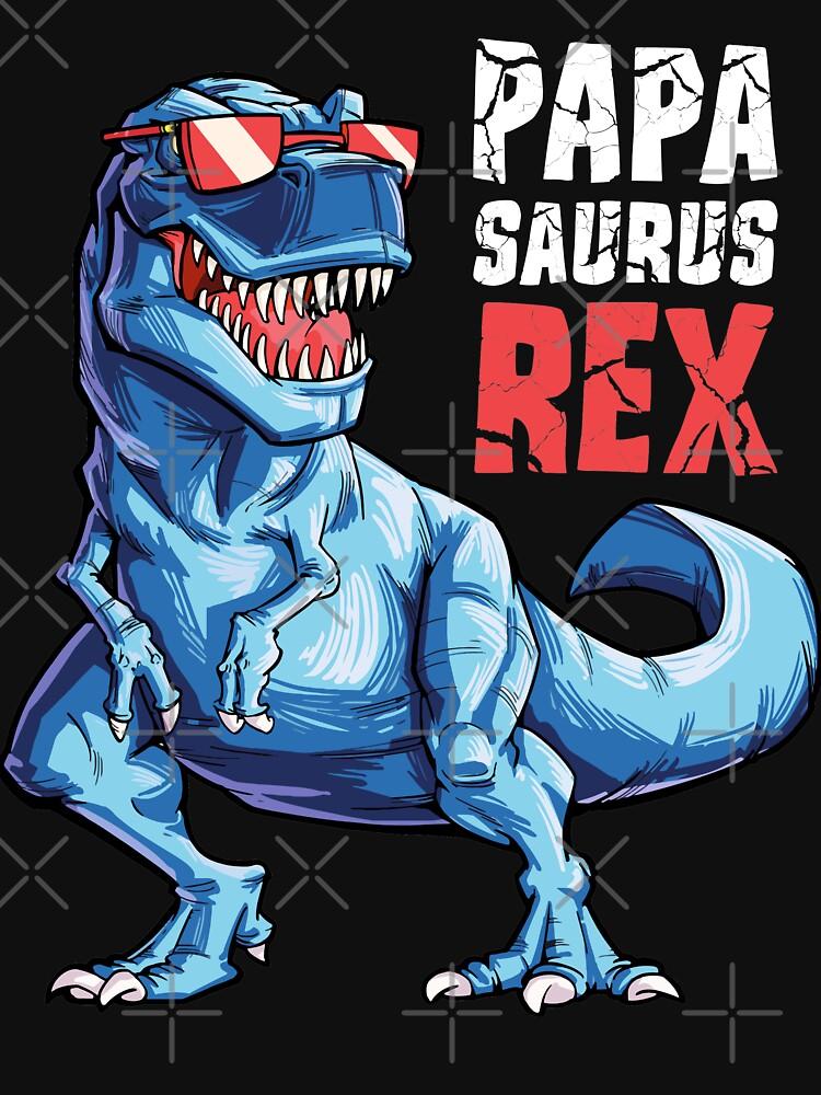 Papasaurus T shirt T rex Papá Saurus Dinosaurio Hombres Papá Papá de LiqueGifts