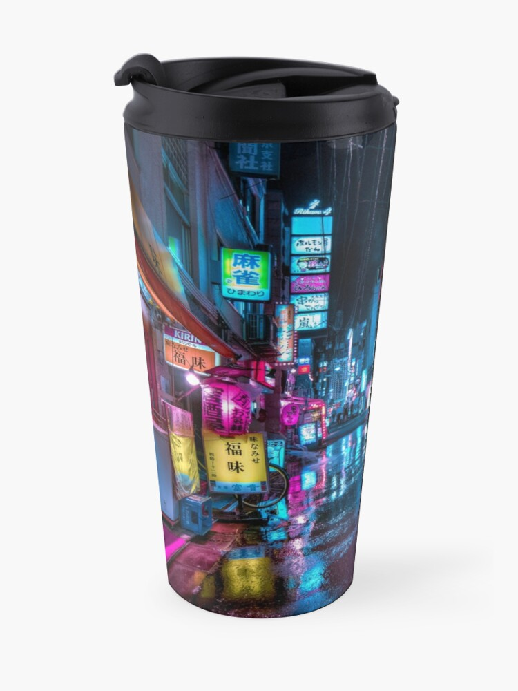Alternate view of Tokyo at Night - Shimbashi Travel Mug