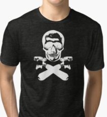 Skull & Portafilters Tri-blend T-Shirt