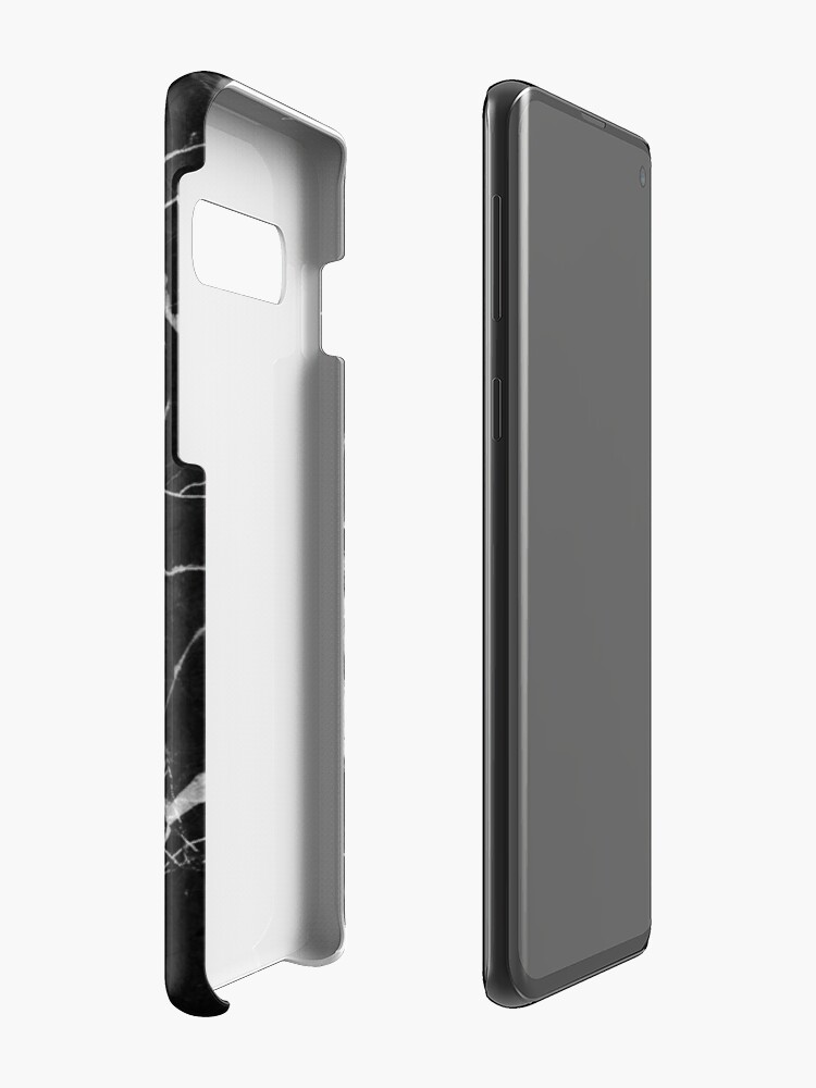Alternate view of Black Suede Marble With White Lightning Veins Cases & Skins for Samsung Galaxy