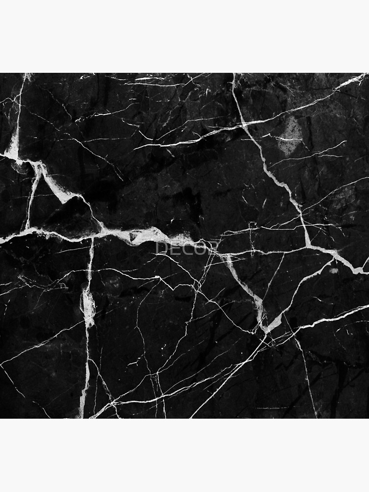 Black Suede Marble With White Lightning Veins by DEC02