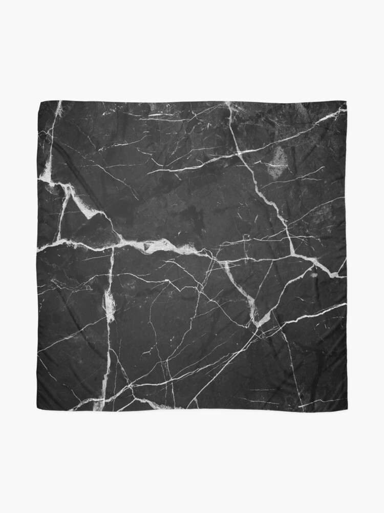 Alternate view of Black Suede Marble With White Lightning Veins Scarf