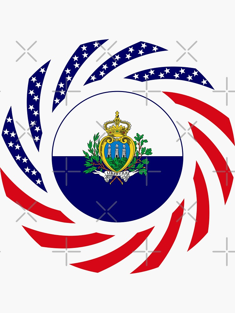 San Marino American Multinational Patriot Flag Series by carbonfibreme