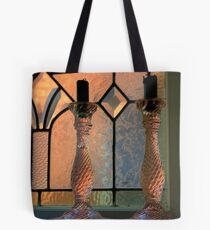 Candel Sticks are the clues.... Tote Bag