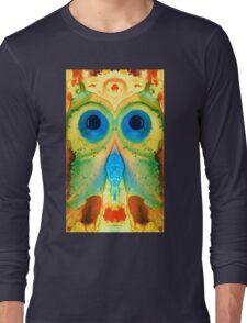 The Owl - Abstract Bird Art by Sharon Cummings Long Sleeve T-Shirt