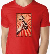 Coffee Revolution! Distressed Mens V-Neck T-Shirt