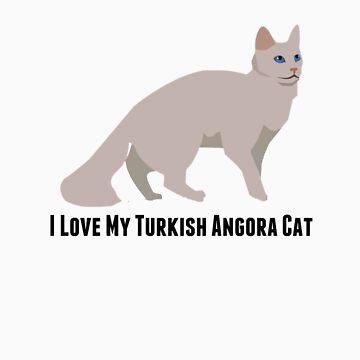 I Love My Turkish Angora Cat by rodie9cooper6