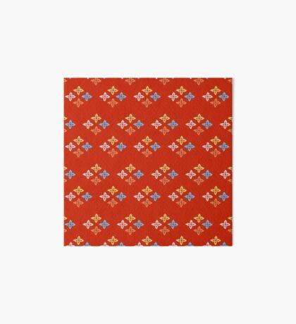 Las Flores - Red 02 (Patterns Please) Art Board Print