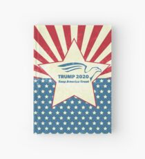 Trump 2020 Keep America Great - Star Spangled Banner Hardcover Journal