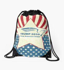 Trump 2020 Keep America Great - Star Spangled Banner Drawstring Bag