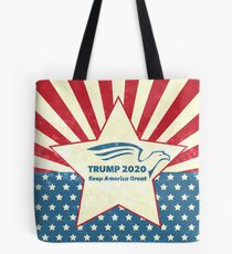 Trump 2020 Keep America Great - Star Spangled Banner Tote Bag