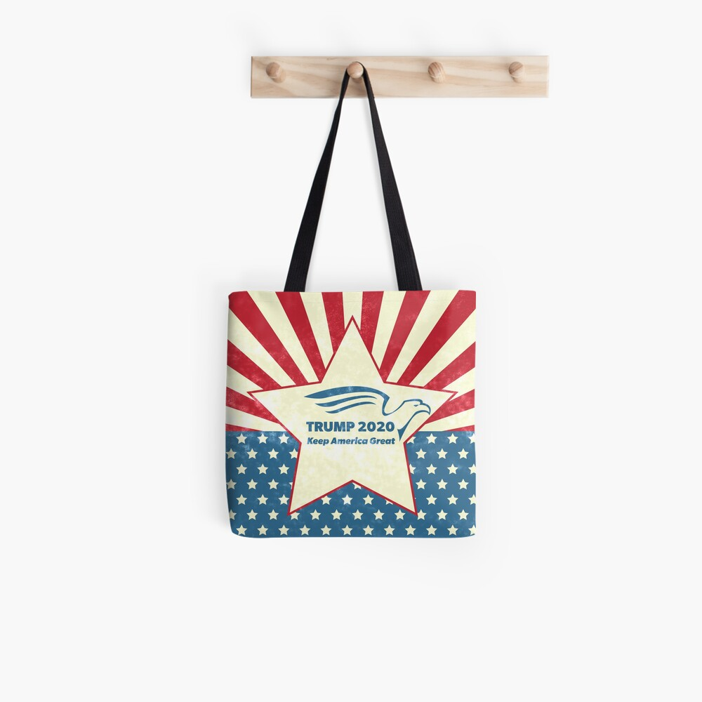Trump 2020 Keep America Great - Star Spangled Banner Tote Bag