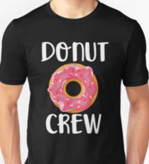 Donut Crew Shirt - Funny Donut T-Shirt Slim Fit T-Shirt