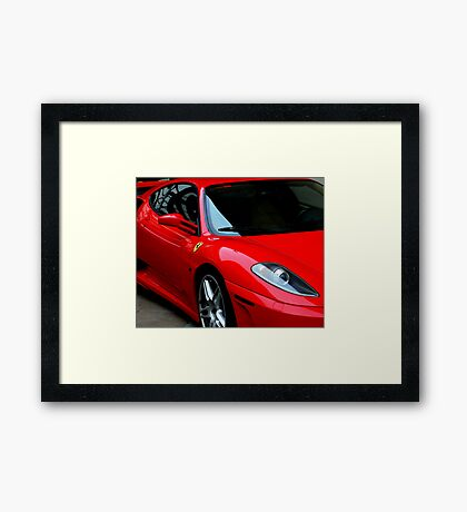 Little Red Sports Car Framed Print