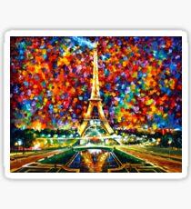 Paris meiner Träume - Leonid Afremov Sticker