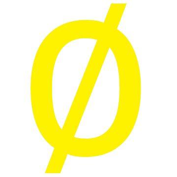 "Empty Set - Unicode Character ""∅"" (U+2205) Yellow by znamenski"