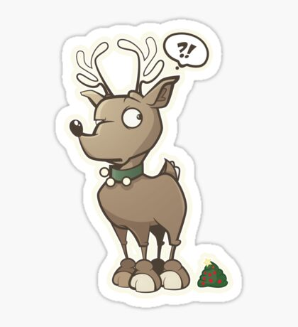 Holiday Reindeer are Magical Sticker Sticker