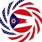 Ohio Murican Patriot Flag Series by Carbon-Fibre Media