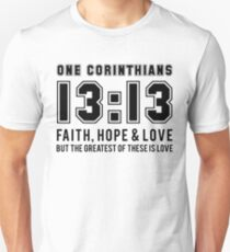 1 Corinthians 13:13 Faith, Hope, Love v2 Slim Fit T-Shirt
