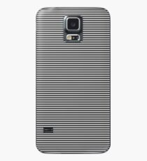 Midnight Black and White Horizontal Sailor Stripes Case/Skin for Samsung Galaxy
