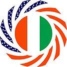 Ivory Coast American Multinational Patriot Flag Series by Carbon-Fibre Media