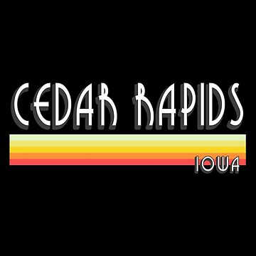 Cedar Rapids Iowa Souvenirs IA Retro Lines by fuller-factory