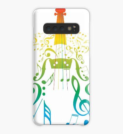 Violine mit Notes2 Hülle & Klebefolie für Samsung Galaxy