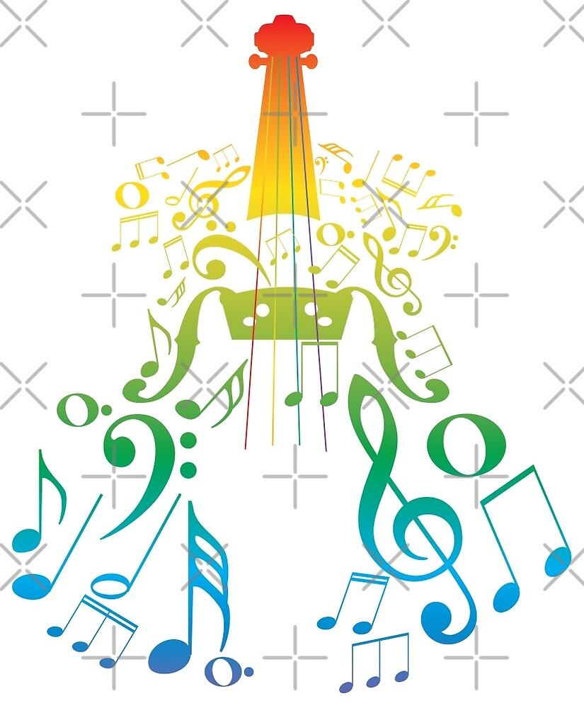 Violine mit Notes2 von AnnArtshock