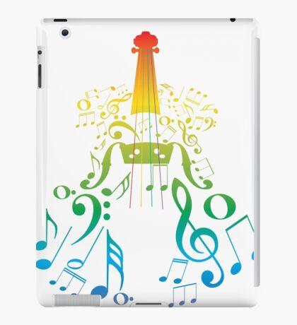 Violine mit Notes2 iPad-Hülle & Klebefolie