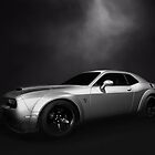 Supercharged Dodge Challenger B/W by Thomas Burtney