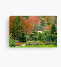 Autumn at Cockington Canvas Print