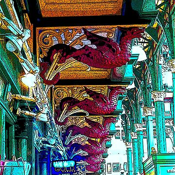 Dragons of Leeds Market bywhacky by bywhacky